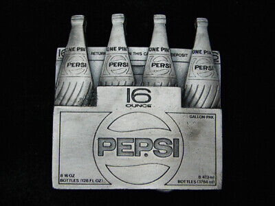RB15158 *NOS* VINTAGE 1980s **PEPSI** SODA FOUNTAIN ADVERTISEMENT BELT BUCKLE