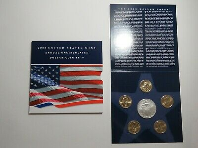 2008 US Mint Annual Uncirculated Dollar Coin Set - 2008-W American Silver Eagle