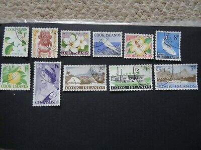 Cook Islands 1963 Set Sg 163-173 1D - 5/- Fine Used, Circular Cancellations