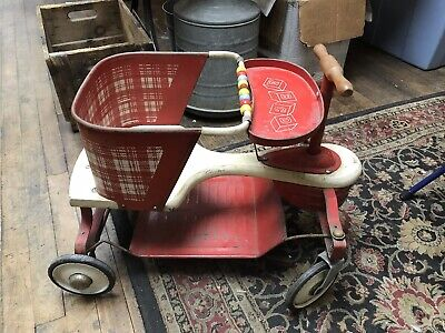 Home & Hearth Antique Kiddie Kar Baby Stroller Walker