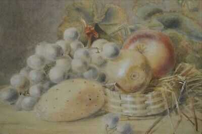 American Still Life of Fruit and a Basket - 19th Century