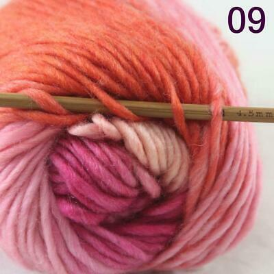 Sale 1 Ball x50g New Knitting Yarn Chunky  Colorful Hand Wool Wrap Scarves 09
