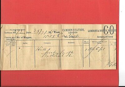 London & North Western Railway - Invoice Dated 1890 - Camden  To Wetheral