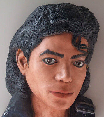 Michael Jackson bust made from Life Mask Bad, in COLOR