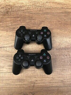2 X Genuine Sony PlayStation 3 Controller - PS3 Sixaxis Dualshock 3 Gamepad