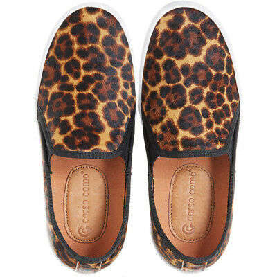 f4dabe3f3b2 Corso Como Womens DUFFY Leopard Leather Low Top Slip on Sneakers NEW Size  11M