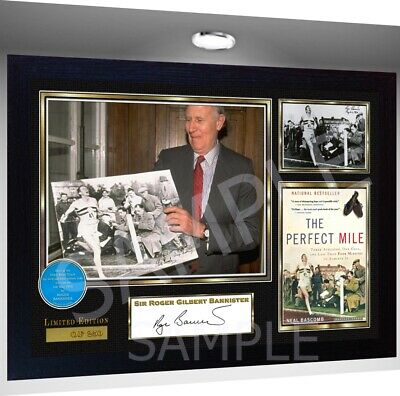 Sir Roger Bannister Signed A4 Framed Photo signed autograph reprint photo