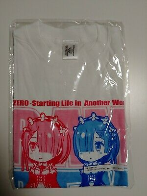 Re-Zero Rem Ram T-shirt Official Banpresto Limited Crane Game Prize from Japan!