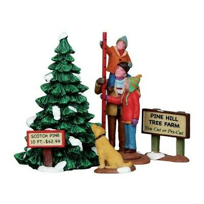 Lemax Christmas Village Picking The Tallest Tree New 12926