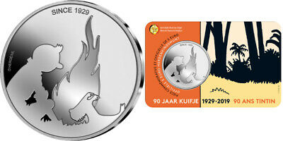 Coincard-Kuifje 5 Euros Tintin A L'occasion Des 90 Ans - Annee 2019 - Unc