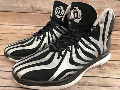 14c2f335ea75 Rare MENS Adidas Adizero Geofit Derrick Rose Men Black Basketball Shoe Size  11.5