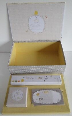 "Baby Keepsake Memory Box Set / Hallmark ""A Little Birdie Told Me"" /Baby Shower"