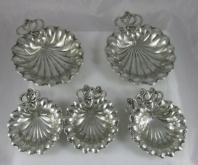 Antique Gorham Durgin Sterling Silver Lily Pad Master&Individual Nut Cups Set 10