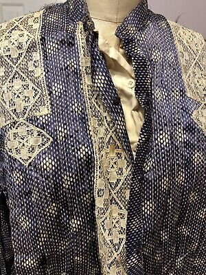 Antique Silk Victorian Civil War Era Bodice as is for parts or display