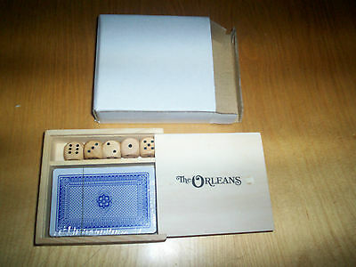 from las vegas USA the orleans casino playing cards & dice set in wooden case N