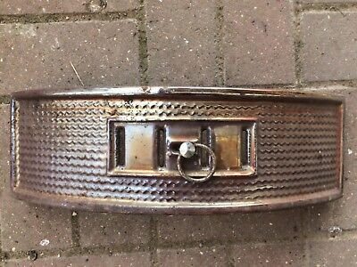 Vintage reclaimed Art Deco Enamel on cast iron fireplace Hearth Grate front used