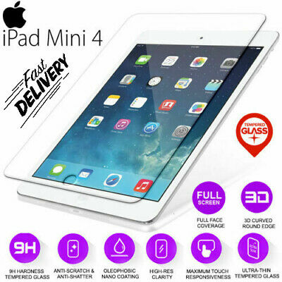 100% Genuine Tempered Glass LCD Screen Protector Film For iPad Mini 4 4th Gen