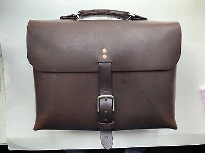 Horween Full Grain Leather Briefcase One Piece of Leather