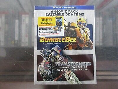 BRAND NEW Transformers + Bumblebee 6 Movie Collection (Blu Ray + Digital)