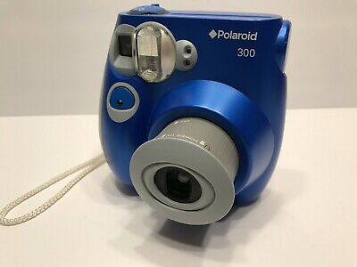 POLAROID PIC-300 AUTO Flash Instant Print Film Camera - Blue