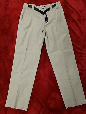e8349f51ad Mens Chaps 100% cotton Ripstop Khaki Hiking Pants with Belt 33x31.5 Ships  free
