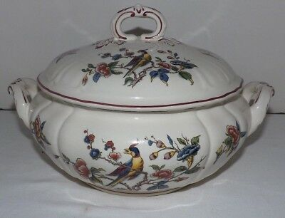 "Villeroy & Boch Red ""Phonix"" PHOENIX Handled TUREEN w/ Cover (Germany)"
