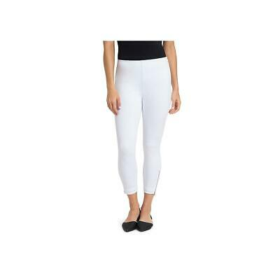 0612584633b Lysse Womens White Zipper Cuff Pleated Stretch Cropped Jeans XL BHFO 4759