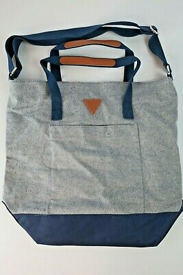 4c4069976a Vintage GUESS Jeans Denim Tote Bag Purse USA Triangle Leather Accents  Messenger