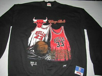 bf2373779c3414 Nutmeg VINTAGE 90s MICHAEL JORDAN SCOTTIE PIPPEN CHICAGO BULLS BLACK  SWEATSHIRT