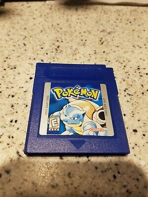 Pokemon Blue Version (Nintendo Game Boy, 1998) Tested. Working Save. Authentic