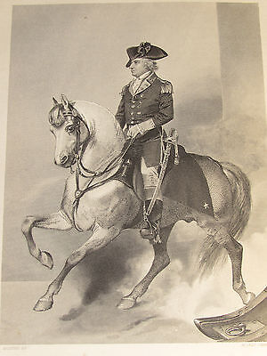Rare Antique 1863 Steel Engraving Horatio Gates-Johnson Fry & Co. New York