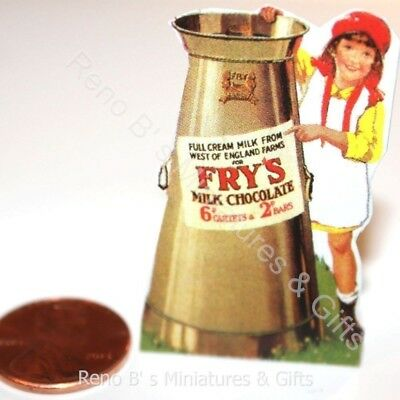 Dollhouse miniature beverages 1:12 Fry/'s Breakfast Cocoa Beverage 1900s NEW