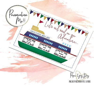 Customised Scratch off Surprise Trip Card. Travel Card. CRUISE Holiday Card.
