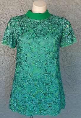 1960's Forest green mini, Synthetic Nylon Braid, size 12