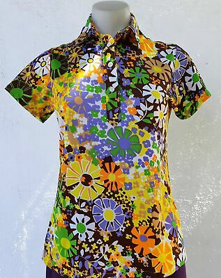 1970's Floral Blouse by 'Tricia', size M