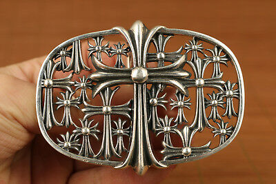 100g fine s925 solid silver cool valuable cross buckles statue