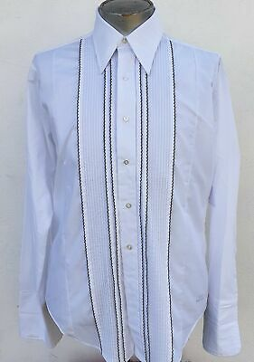 1970's Dinner shirt with pint-ucking ruffle front panel Size XL