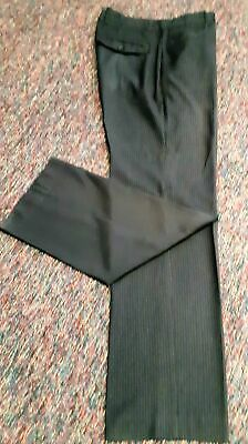 """Pinstriped Black trousers by 'Connor', 32"""". small."""