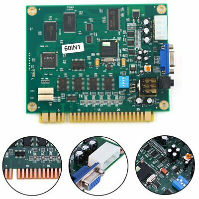 60 in 1 Multicade PCB Board CGA/VGA Output For Classic Jamma Arcade Game US Ship