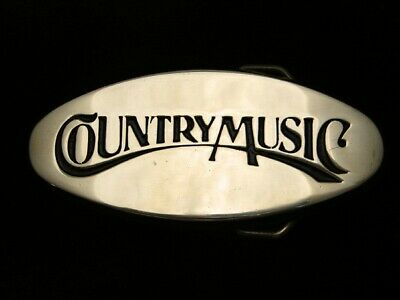 QK05108 VINTAGE 1970s **COUNTRY MUSIC** COMMEMORATIVE SOLID BRASS BELT BUCKLE