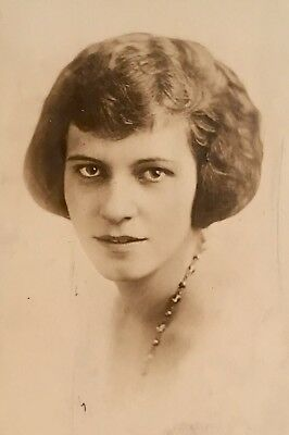 1910's Pretty Beautiful Young School Girl Lady Hair PHOTO Cleveland Ohio