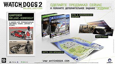 Watch Dogs 2 Deluxe Edition Brand New Ps4 Playstation 4