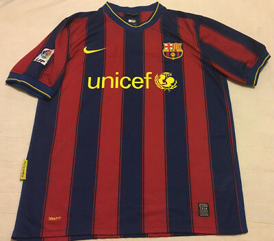 00ef75b5e93 Mens M Medium Nike Fit Dry UNICEF FCB #1 Somchat Barcelona LFP Jersey
