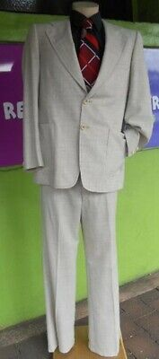 1970's Wool 2pc suit with wide lapels and flares by 'Kentish' size L