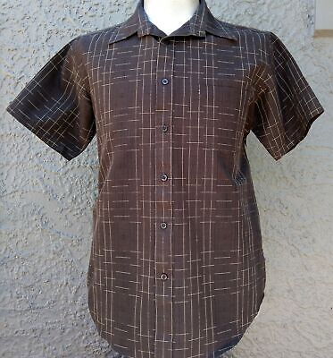 Polyester short sleeve shirt by 'Tribute 'Men's 70's inspired size M