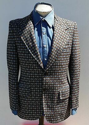 1970's Polyester Checked Sports-Coat, USA size L