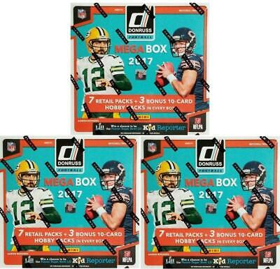 2017 Panini Donruss Football Mega Box (Lot of 3)