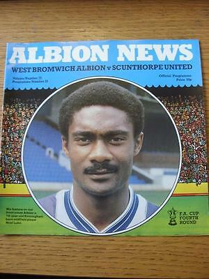 28/01/1984 West Bromwich Albion v Scunthorpe United [FA Cup] (Item has no appare