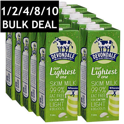 Devondale Long Life Skim Milk No Preservatives Healthy Delicious Aus Bulk 1L