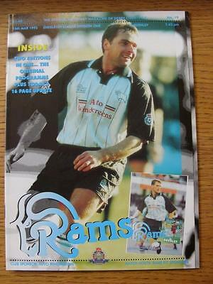 15/03/1995 Derby County v Burnley [Programme Dated: 27/12/1994, With 16 page Upd